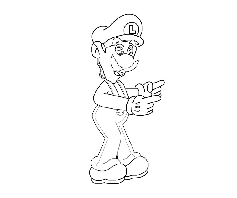 Luigi coloring pages coloring home for Luigi s mansion coloring pages