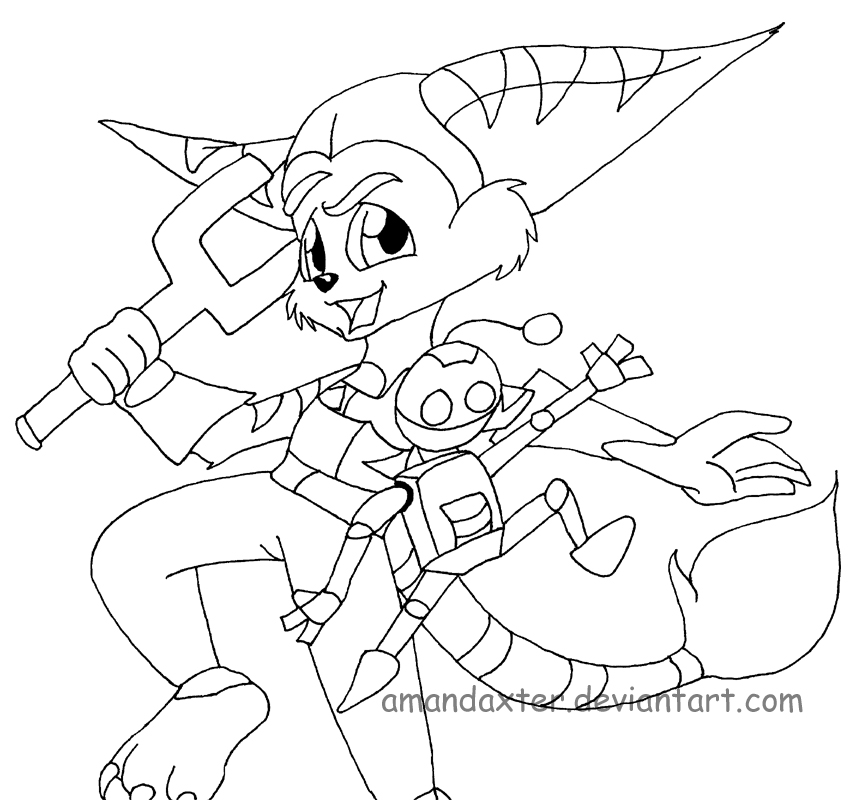 Ratchet And Clank Coloring Pages Az Coloring Pages Ratchet And Clank Coloring Pages