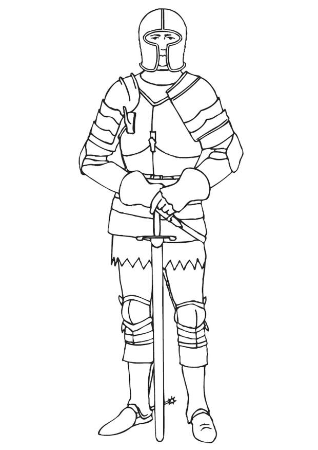 Medieval times coloring pages coloring home - Dessin armure ...