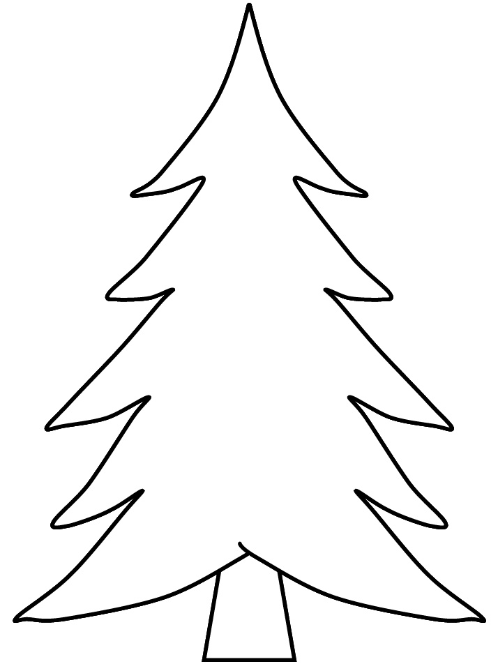 blank christmas tree az coloring pages