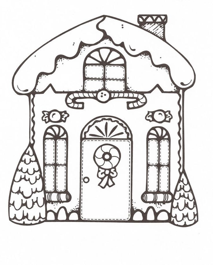 Gingerbread house coloring pictures coloring home for Gingerbread house coloring pages