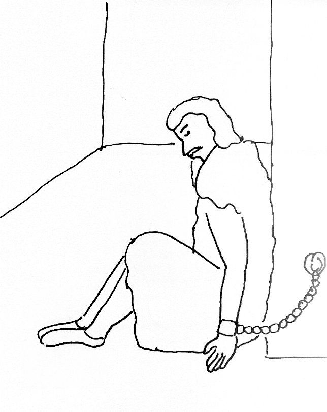 Bible Story Coloring Page for John the Baptist in Prison | Free