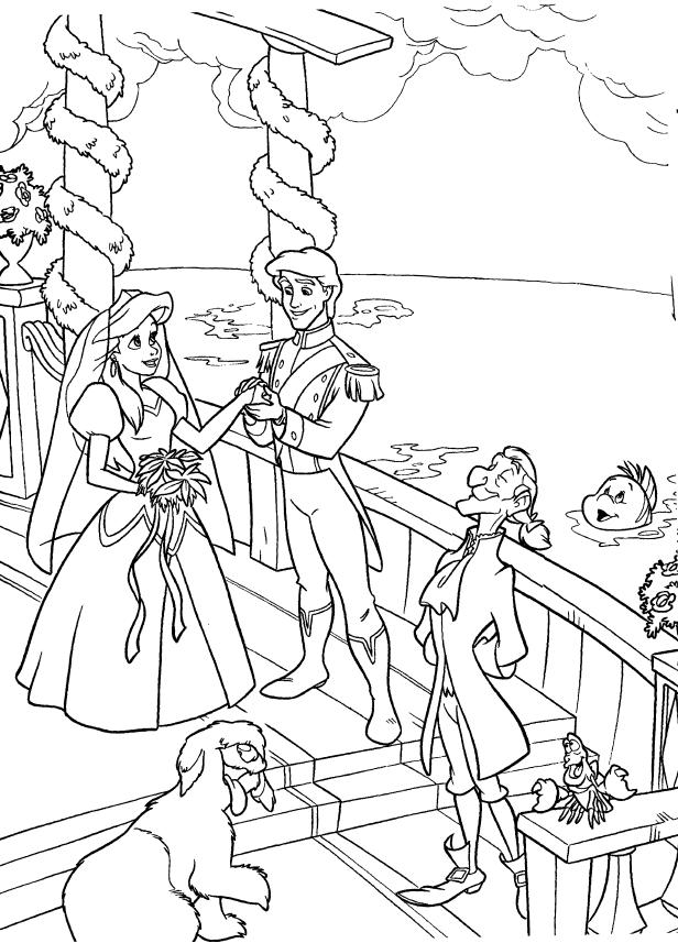 king triton coloring pages - photo#18