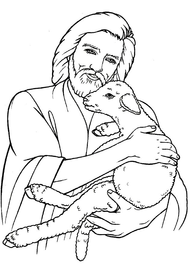Lamb coloring page az coloring pages for Coloring page lamb