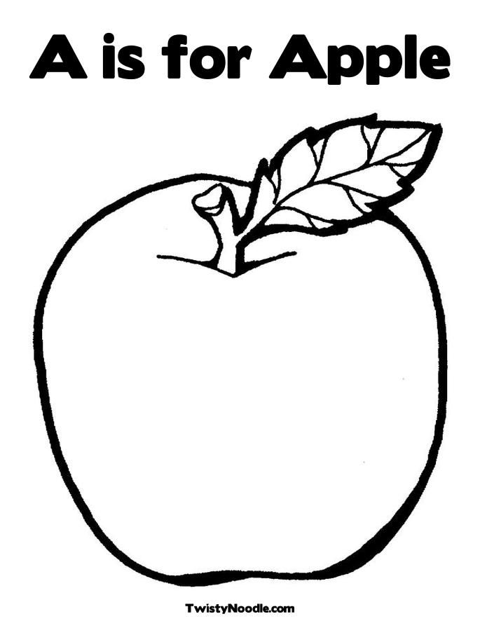 Free Printable Coloring Pages Apples : Preschool apple coloring pages az