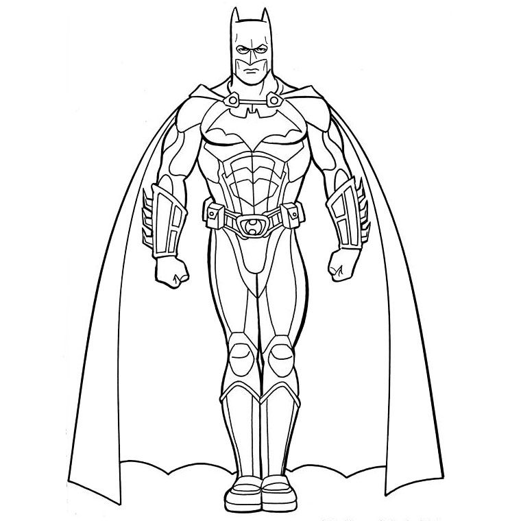 Print Batman Pictures Coloring to print : Famous characters