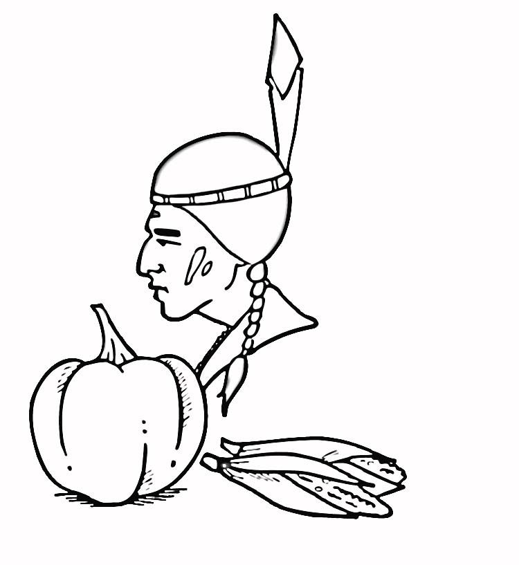indian corn coloring pages - photo#17