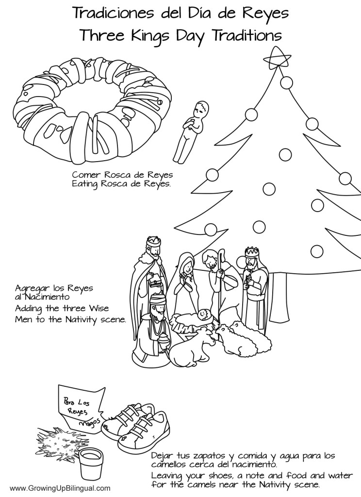 Día de Reyes Traditions Coloring Pages - Printable - Growing Up