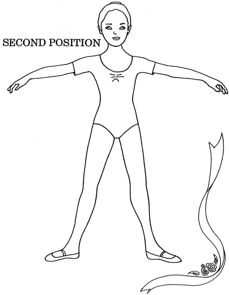 coloring pages ballet - ballet positions coloring pages coloring home