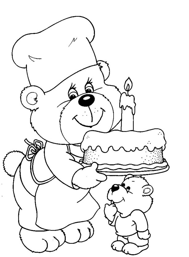 free 1st birthday coloring pages - photo#13