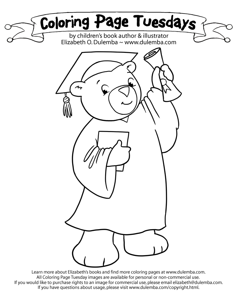 coloring pages for preschool graduation - photo#9