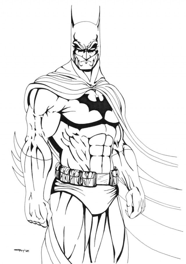 Batman And Robin Cartoon Pictures AZ Coloring Pages