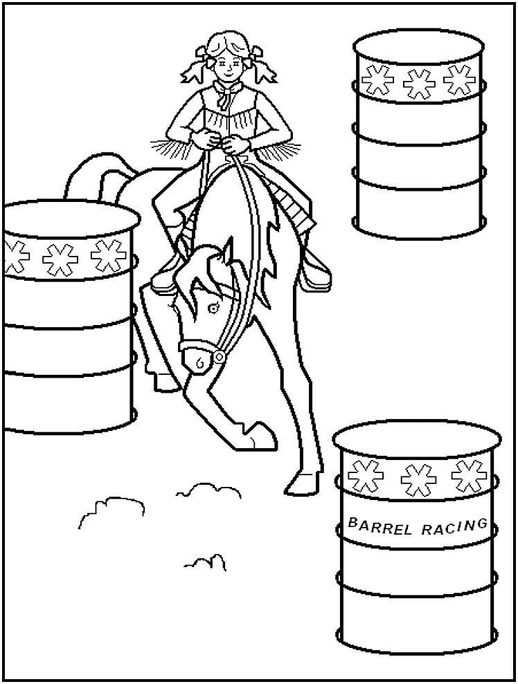 coloring rodeo pages - photo#37