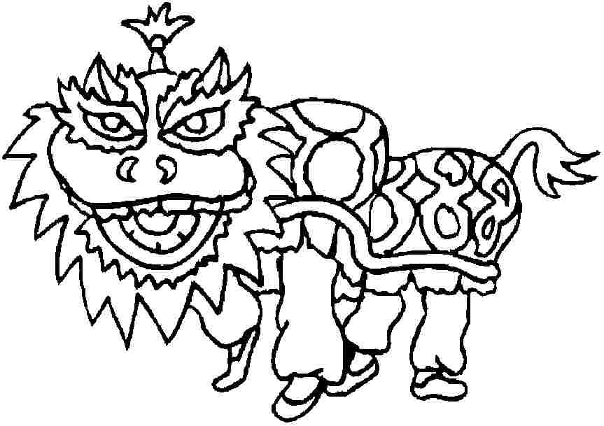chinese new year coloring pages printable chinese new year