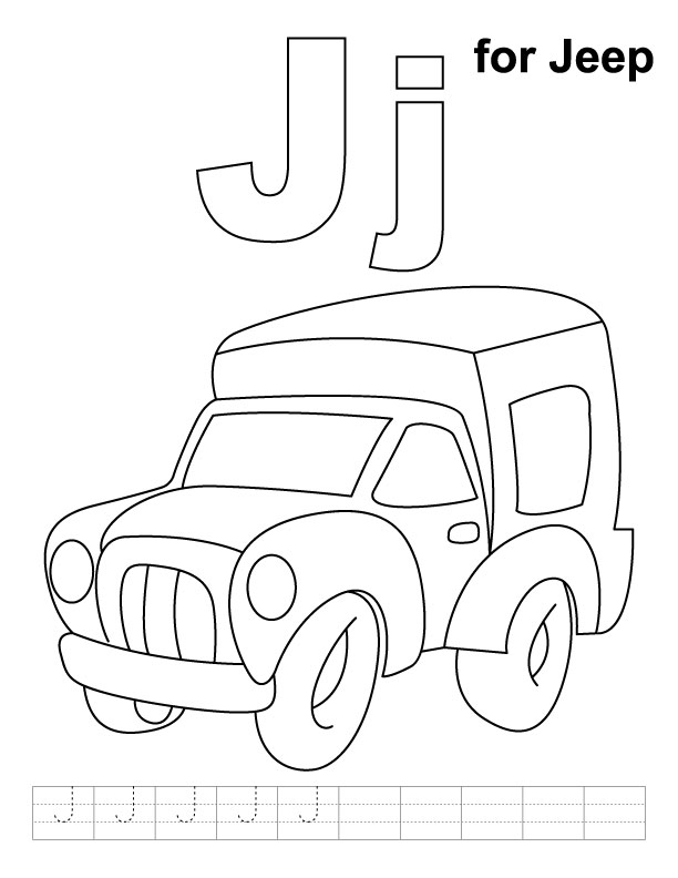 j for jug coloring pages - photo #27