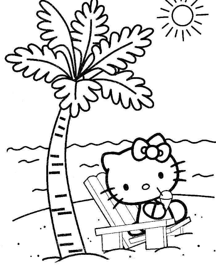 Hello Kitty Hawaiian Coloring Pages : Hello kitty hawaii coloring pages