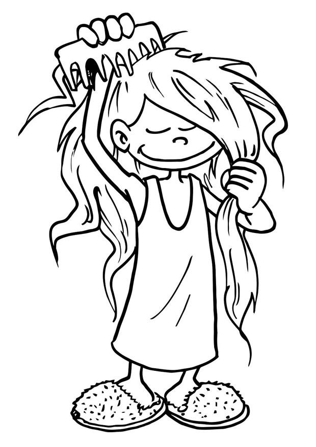 Hair Coloring Pages Coloring Home