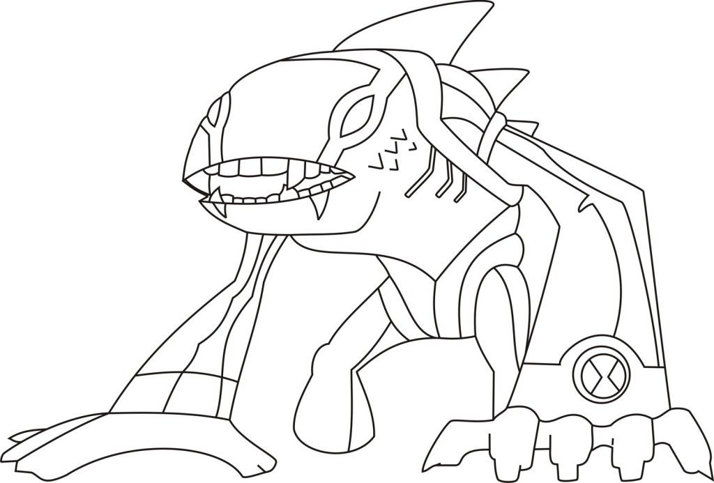 Printable Ben 10 Coloring Pages For Kids