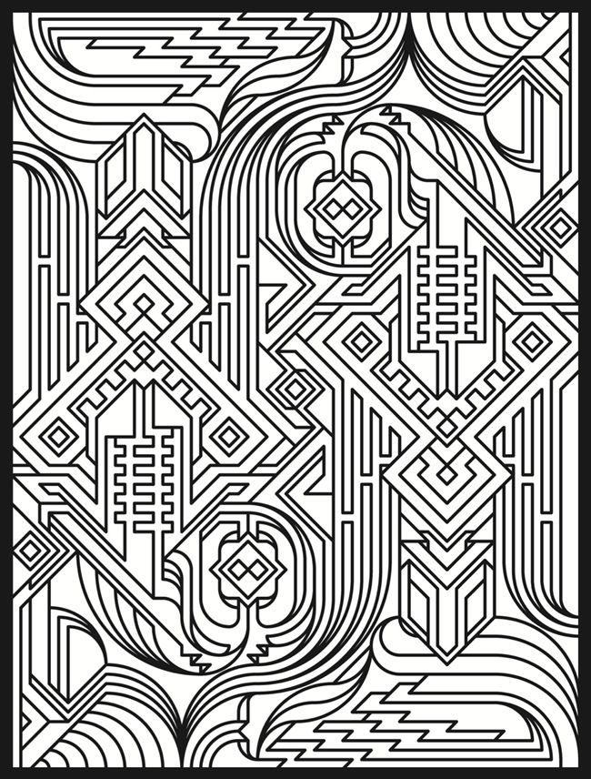 complicated house coloring pages - photo#4