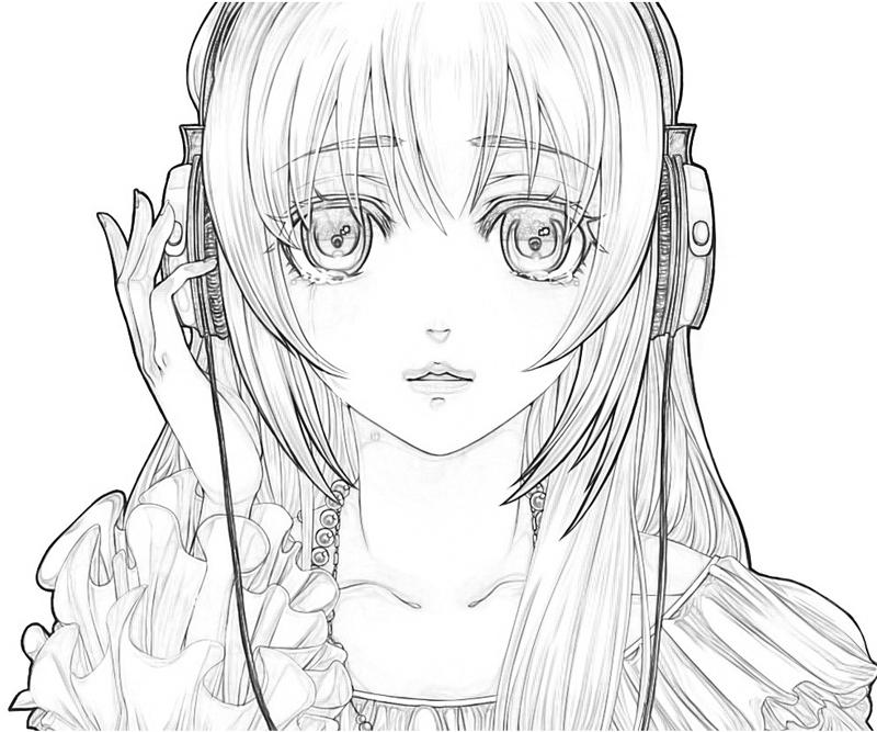 12 Pics Of Sad Anime Coloring Page Sad Anime Girls Coloring