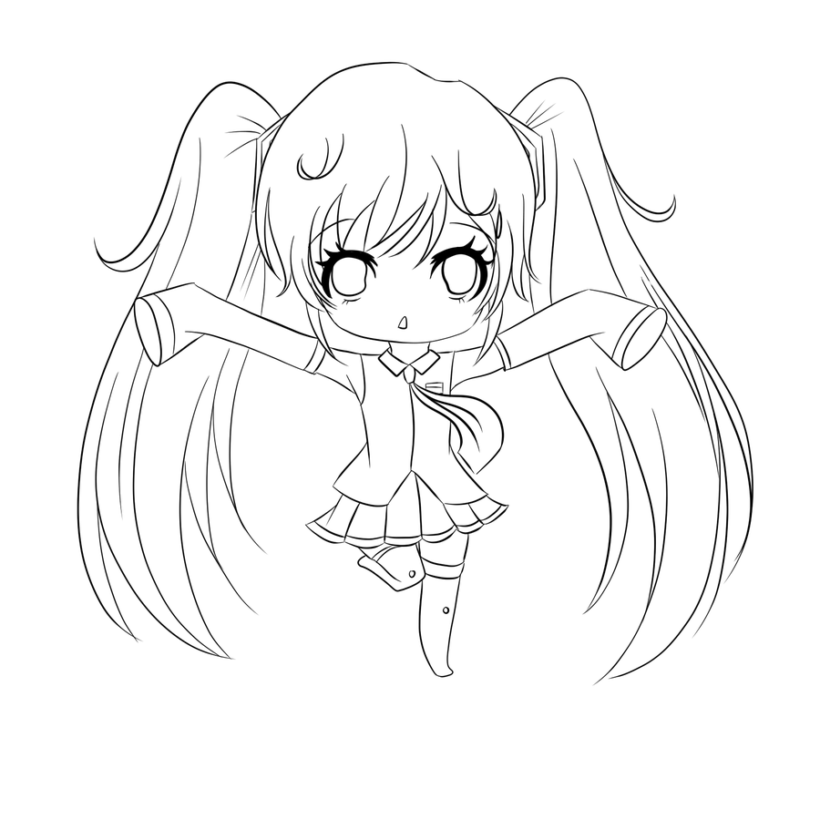 Chibi Anime Coloring Pages - Coloring Home