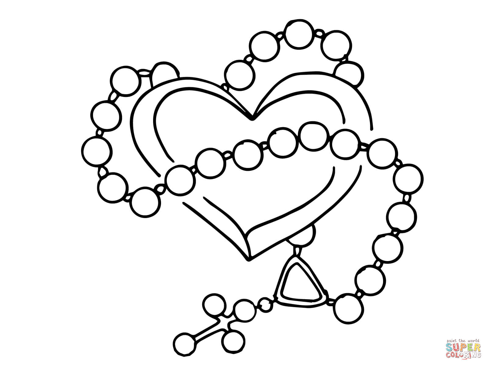 rosary coloring page for kids coloring home