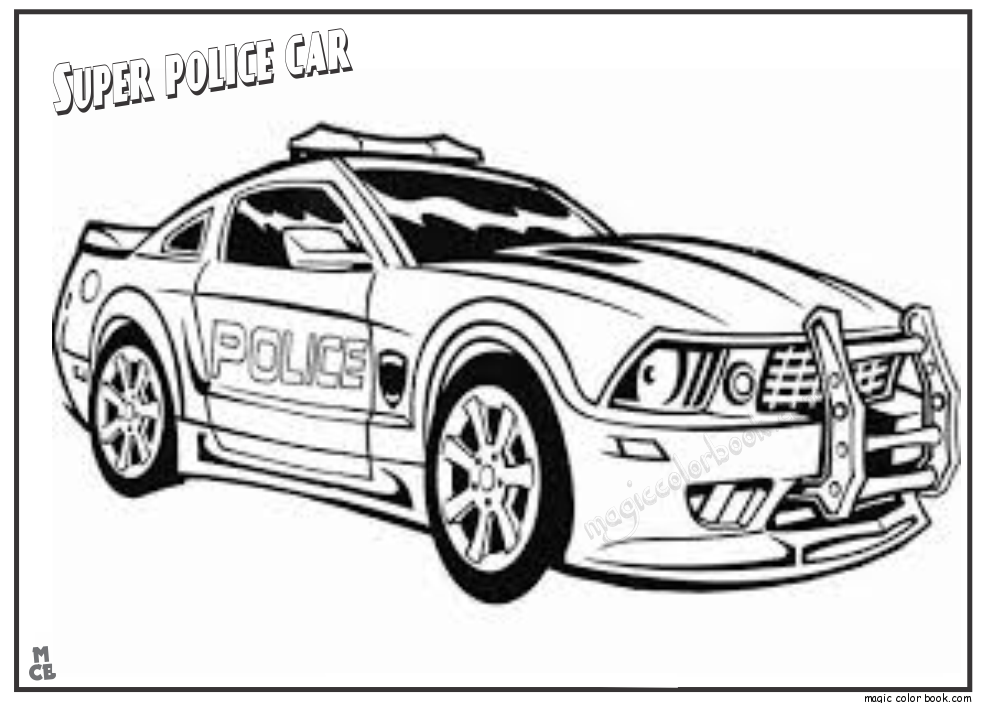 Police Car Coloring Pages To Print