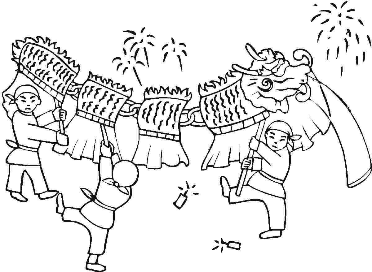 Chinese New Year Animals Coloring
