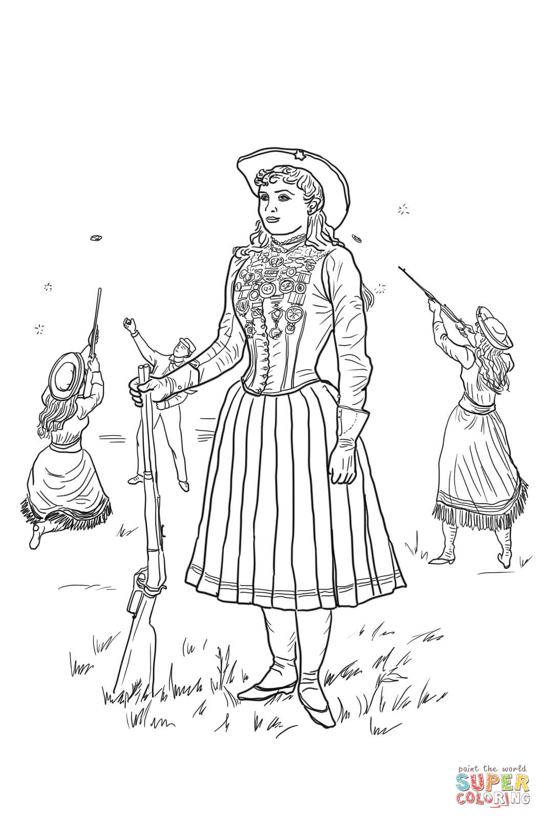 Annie Oakley Coloring Page Free Printable Coloring Pages
