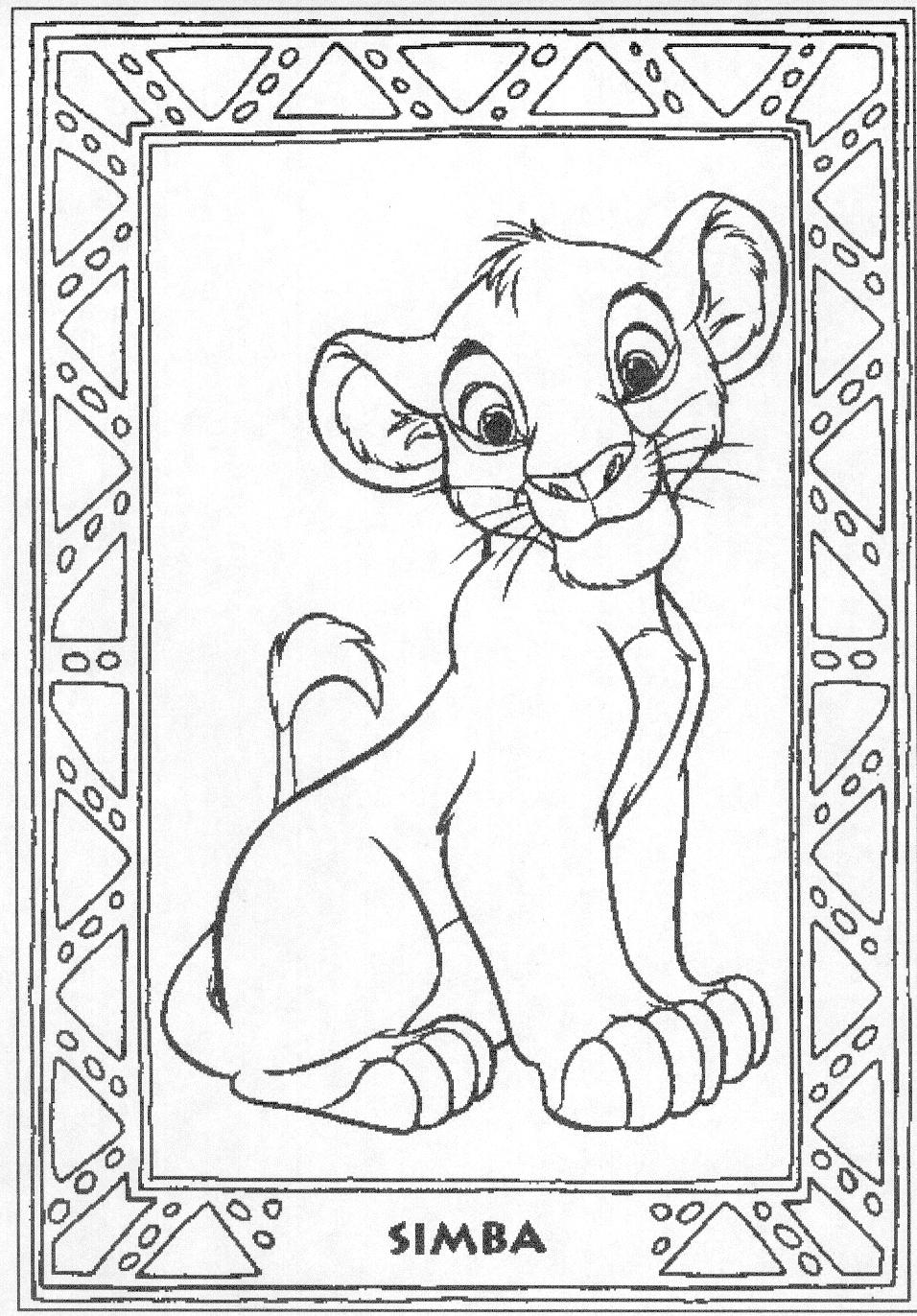Free coloring pages lion king - Disney Coloring Pages Lion King Free Large Images