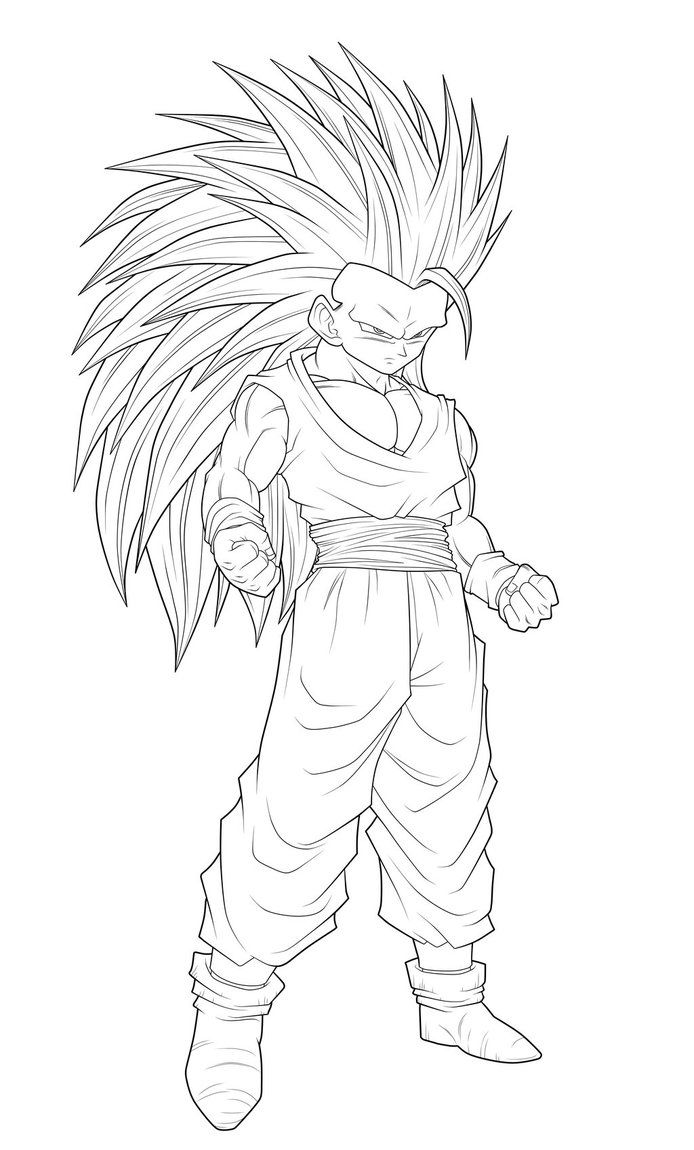 11 Pics Of Goku SSJ3 Coloring Pages - Goku Super Saiyan 3 Coloring ...