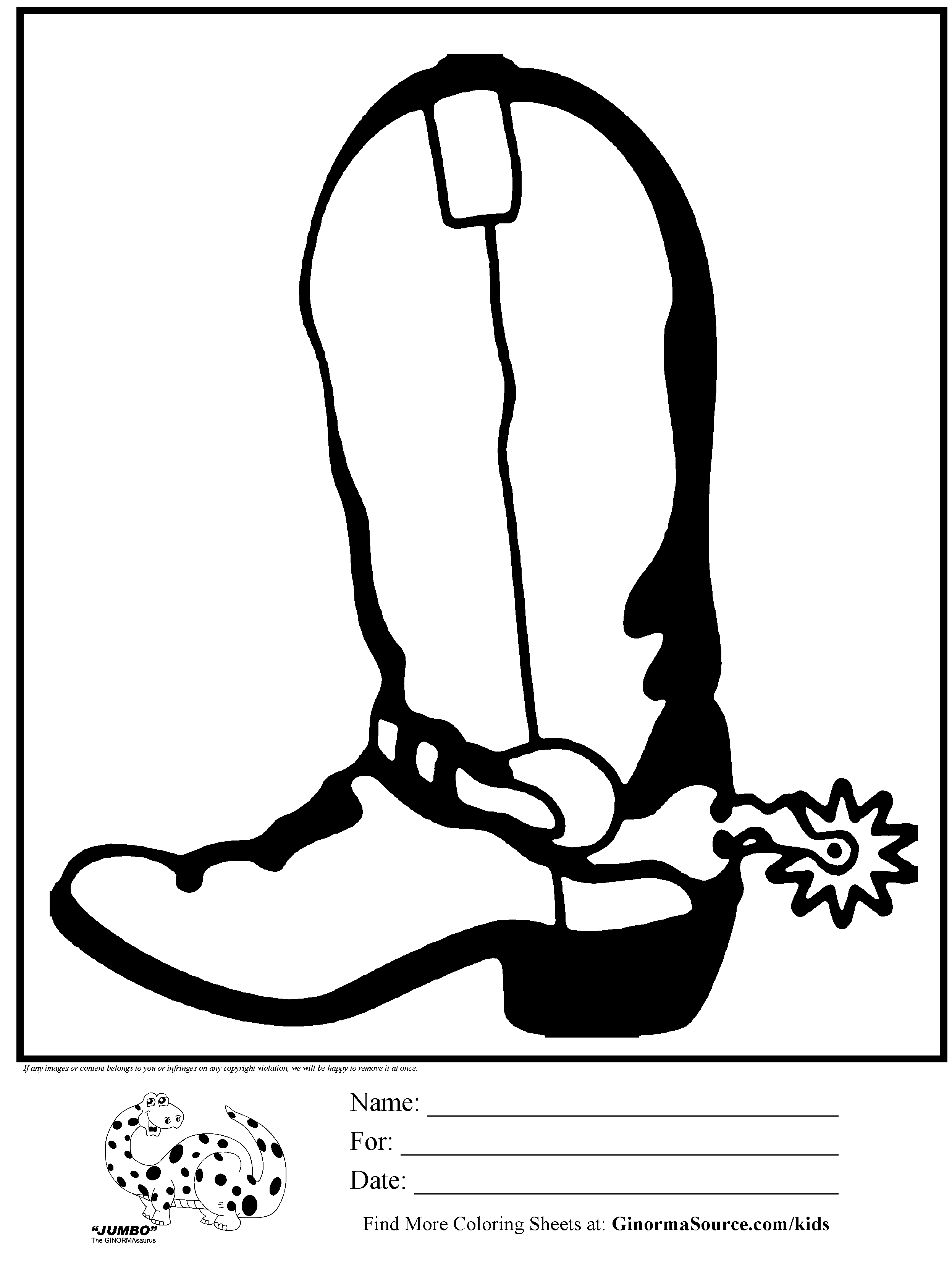 Coloring Pages For Boots Coloring