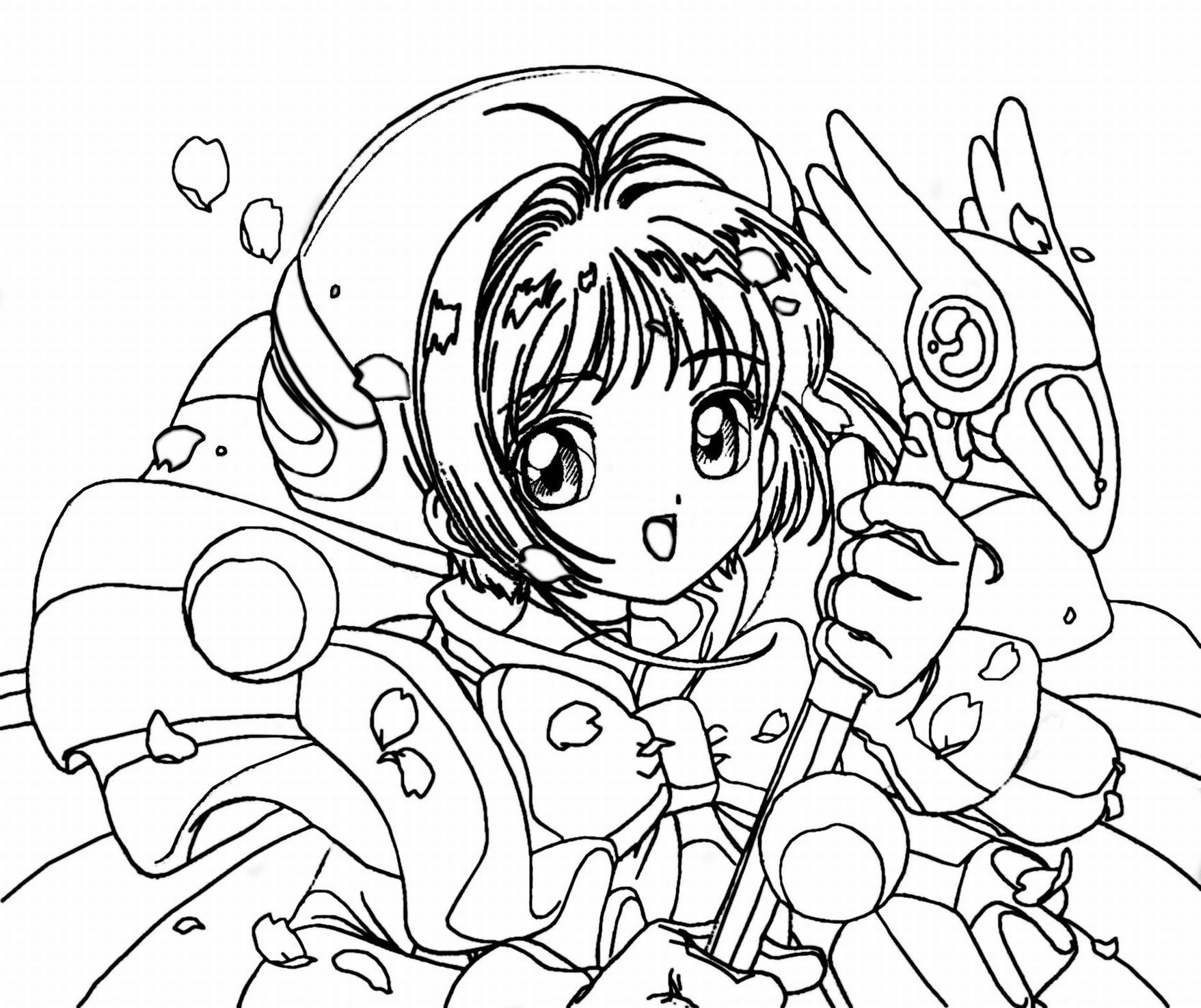 Anime To Print - Coloring Pages for Kids and for Adults