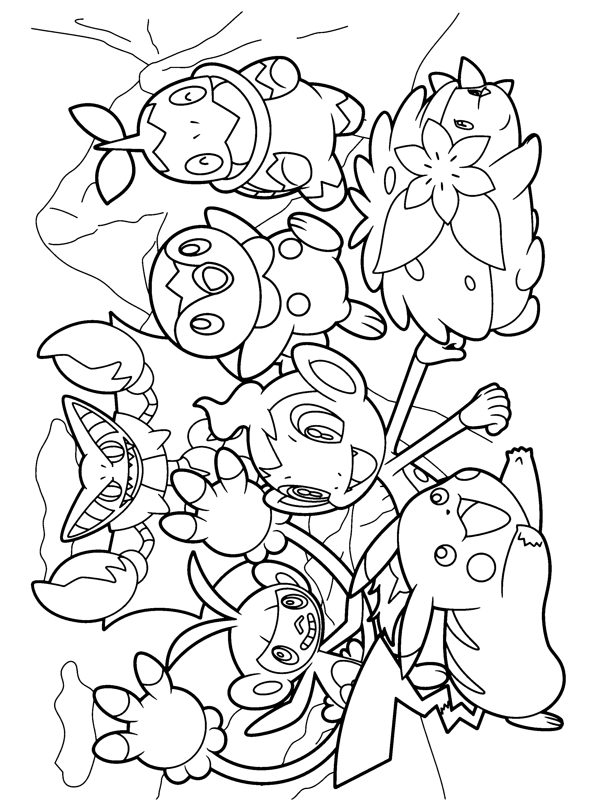 chimchar pokemon coloring pages - photo#8
