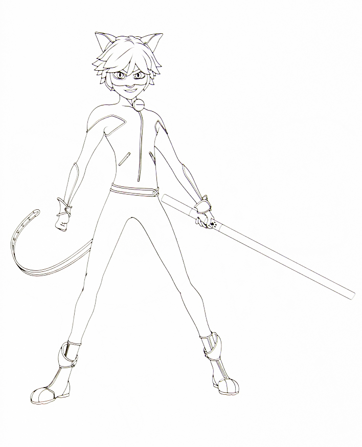 Miraculous Ladybug And Cat Noir Coloring Pages - Coloring Pages Kids