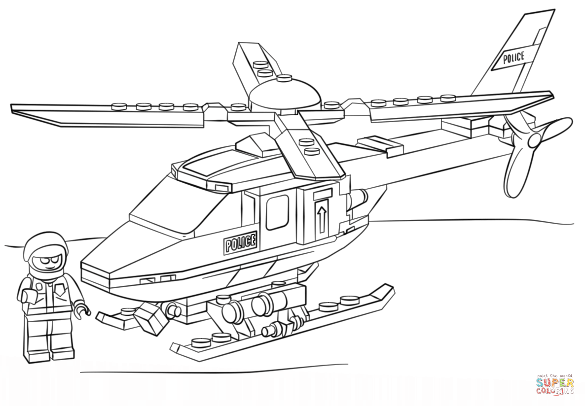 coloring pages helicopter - photo#28