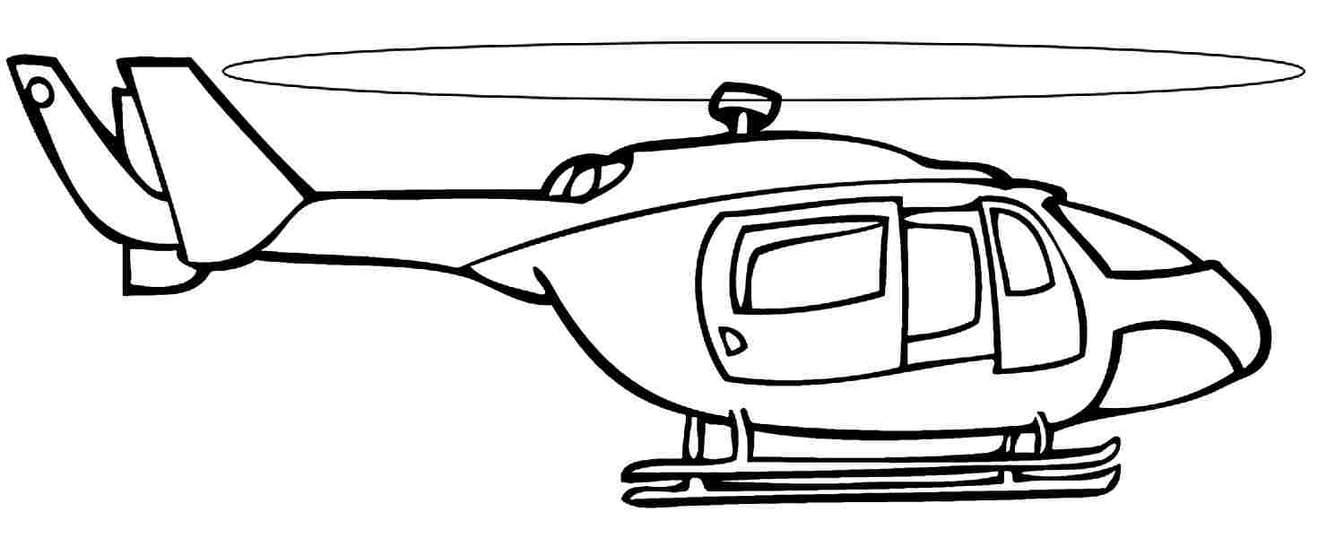 Police Helicopter Coloring Pages - Coloring Home