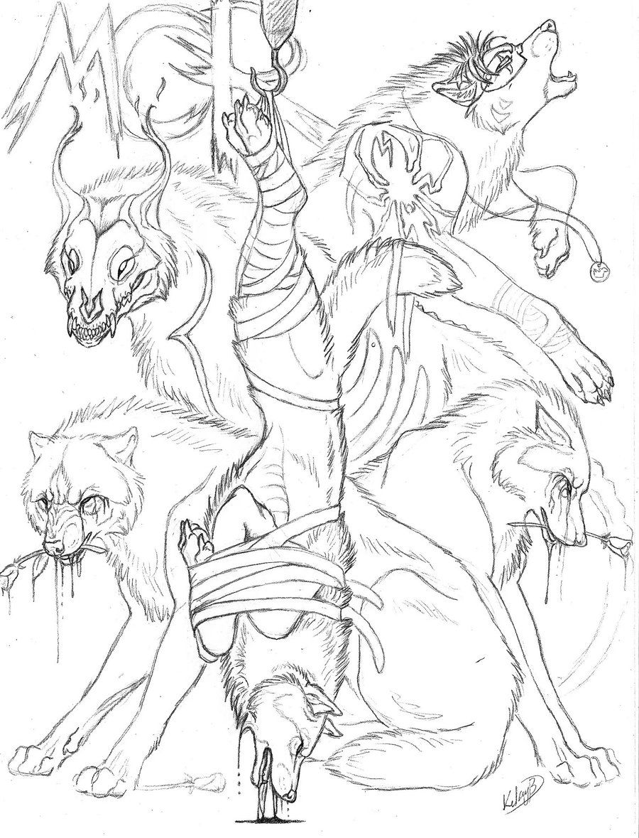 Anime Wolf Coloring Pages For Teenagers - Coloring Pages For All ...