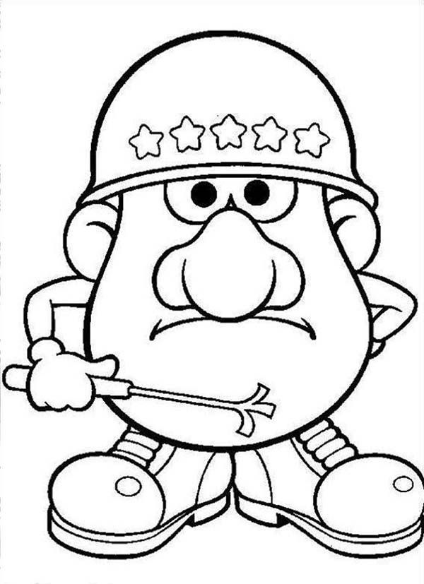 Mr Potato Head Coloring Page