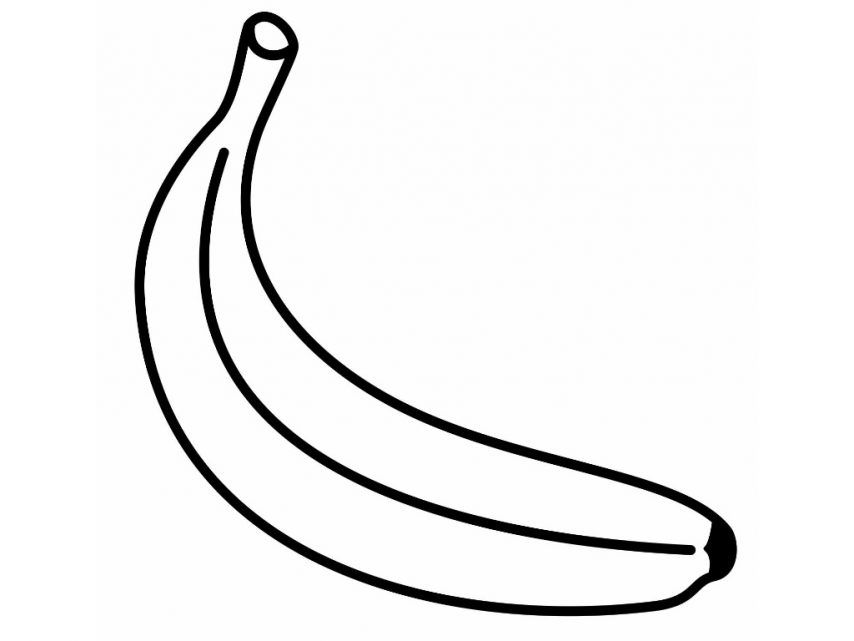 Banana Coloring Pages Print - Coloring Home