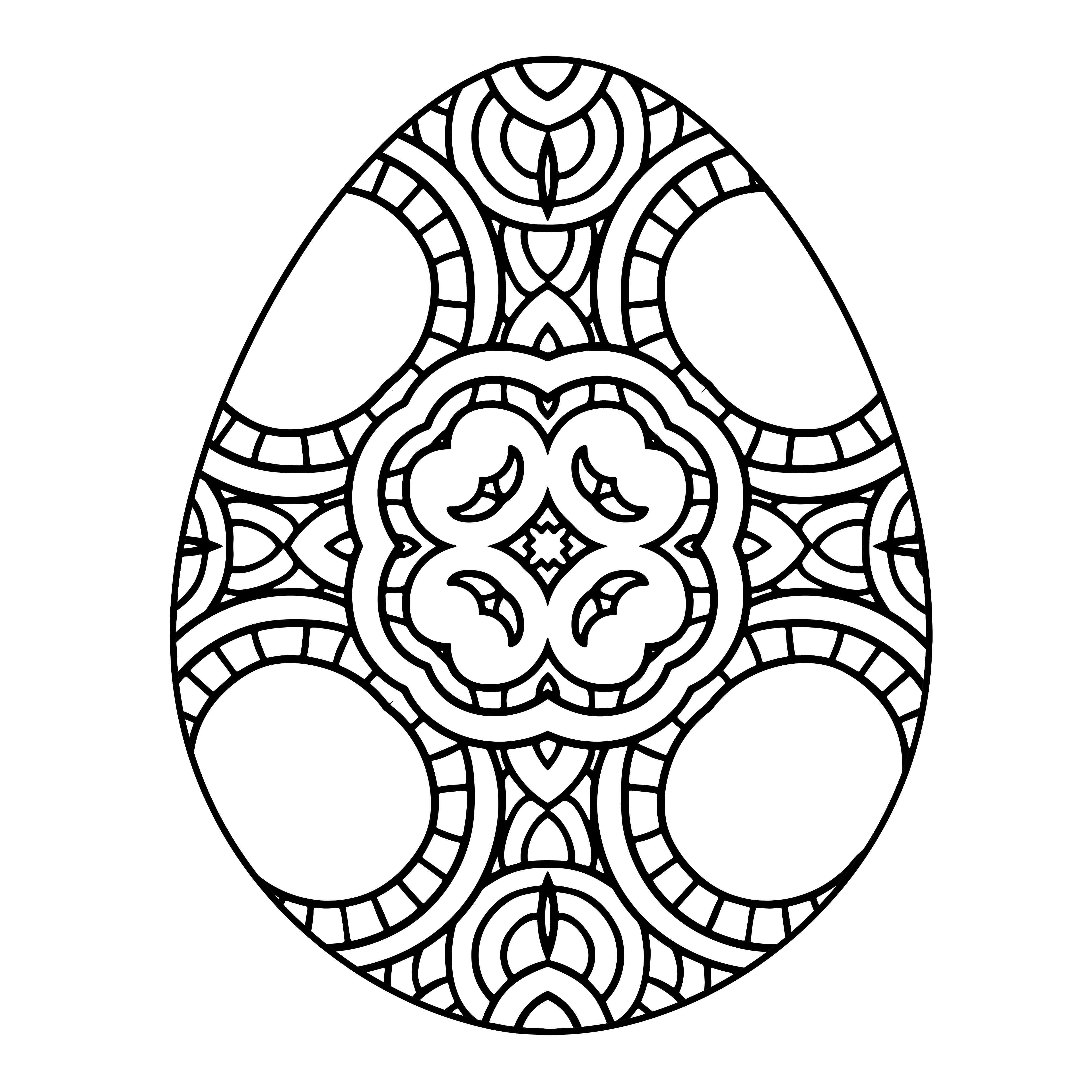 Easter Egg Adult Coloring Pages to Download and Print