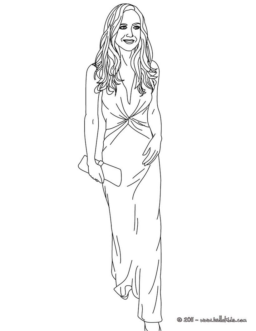 5 beautiful girls in a gown coloring pages coloring home