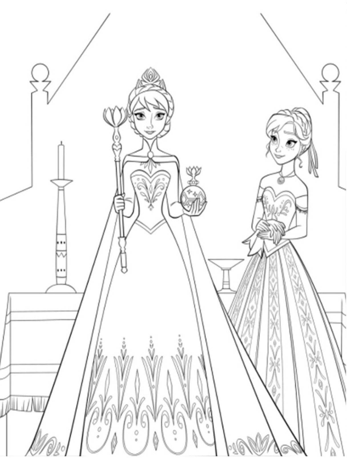 Frozen 2 coloring pages - Coloring Pages Frozen Coloring