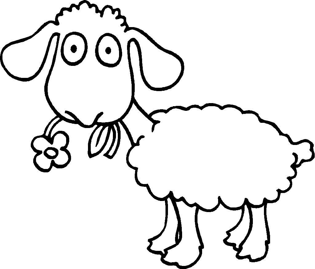 Sheep Outline Coloring Page Sheep Coloring Page Sheep Coloring ...