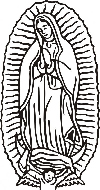 Virgen De Guadalupe Coloring Pages Coloring Pages Kids Collection Coloring Home