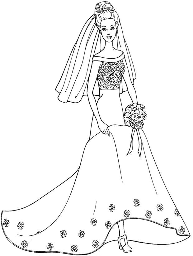 Wedding Dress Coloring Pages