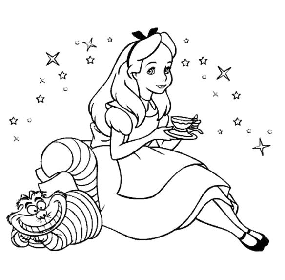 Alice In Wonderland Coloring Pages Pdf : Color alice in wonderland coloring home