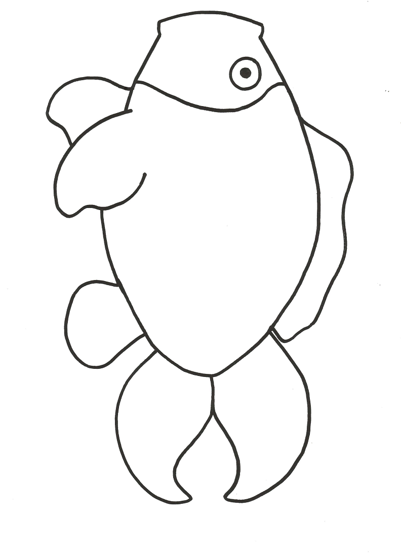 Rainbow Fish Black And White Template Clipart Best Coloring Home