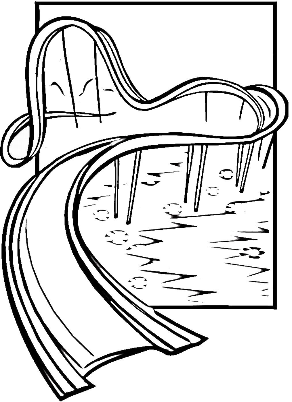 water slide coloring pages - photo#1