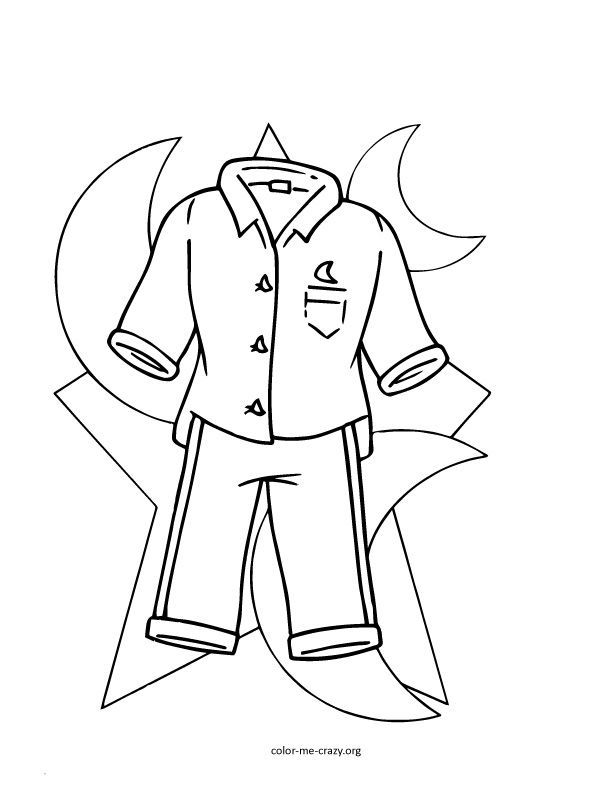 pajamas in the morning coloring pages - photo #12